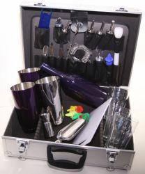 Barmanský kufr - fialový metal