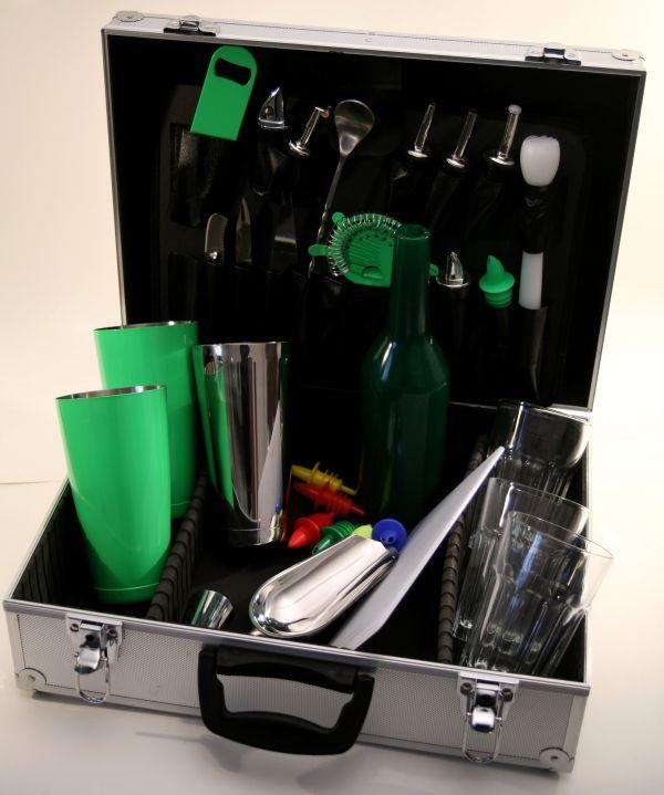 Barmanský kufr zelený