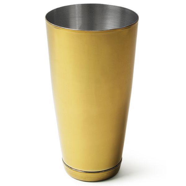 Barmanský kufr zlatý metal