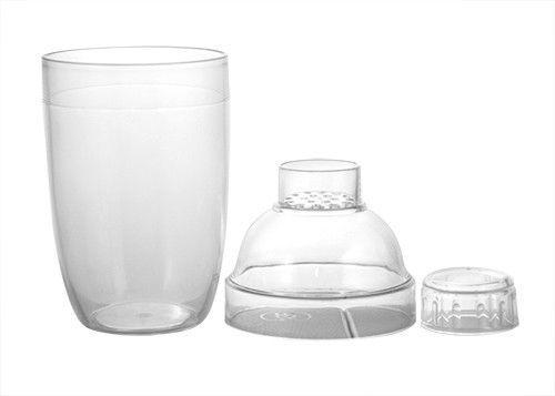 3-dílný plastový šejkr