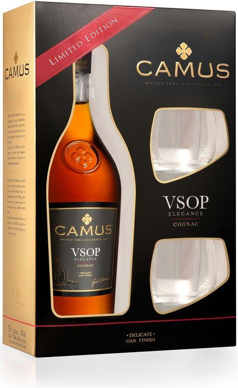 Camus VSOP Elegance + 2x sklo