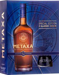 Metaxa 12* 0,7l 40% + 2x sklo