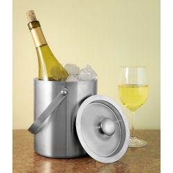Nerezová nádoba na led a servírování vína