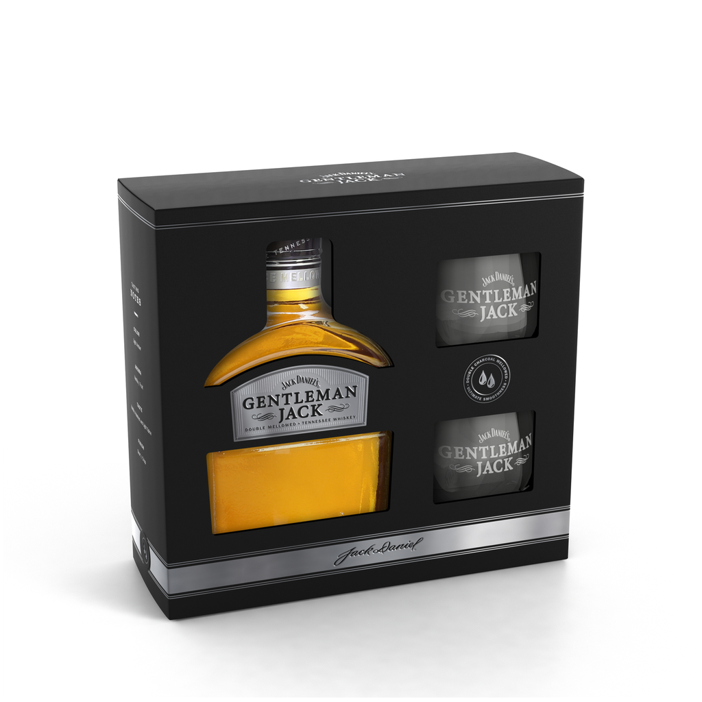 Gentleman Jack + 2 skleničky