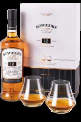 Bowmore 12y 0,7l 40% + 2x sklo