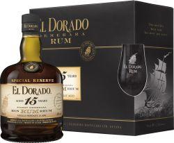 El Dorado 15y 0,7l 43% + 2 skleničky
