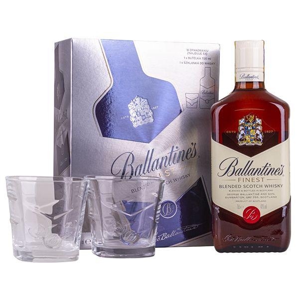 Ballantine's Finest + 2x sklo
