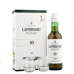 Laphroaig 10y 0,7l 40% + 2x sklo