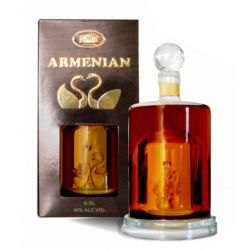 """Proshyan decanter """"Labuť"""" 10y 0,5l 40%"""